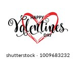 happy valentines day card ... | Shutterstock .eps vector #1009683232