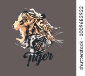 tiger graphic vector design... | Shutterstock .eps vector #1009683922