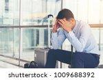 serious businessman worrying... | Shutterstock . vector #1009688392