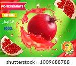 pomegranate juice package... | Shutterstock .eps vector #1009688788