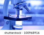 microscope in lab | Shutterstock . vector #100968916