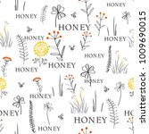 seamless vector pattern with... | Shutterstock .eps vector #1009690015