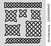 set of celtic patterns and... | Shutterstock .eps vector #1009690045