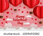 happy valentines day.... | Shutterstock . vector #1009692082