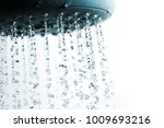 shower and falling water drops. | Shutterstock . vector #1009693216