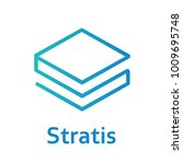 stratis coin cryptocurrency sign | Shutterstock .eps vector #1009695748
