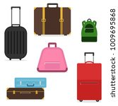 a set of suitcases and bags for ... | Shutterstock .eps vector #1009695868