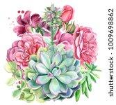 wedding bouquet  eucalyptus... | Shutterstock . vector #1009698862