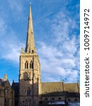 Small photo of DURHAM, COUNTY DURHAM/UK - JANUARY 19 : View of St Nicholas Church Market Place Square in Durham, County Durham on January 19, 2018