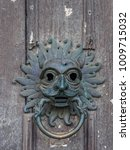 Small photo of DURHAM, COUNTY DURHAM/UK - JANUARY 19 : Old Door Knocker at the Castle in Durham, County Durham on January 19, 2018