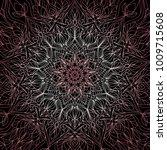 vector mandala design. vintage... | Shutterstock .eps vector #1009715608