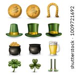 saint patricks day typical... | Shutterstock .eps vector #1009721692