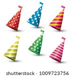 party hat isolated set on white ... | Shutterstock .eps vector #1009723756