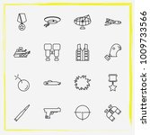 military line icon set military ... | Shutterstock .eps vector #1009733566