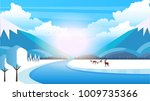 winter rural landscape...   Shutterstock .eps vector #1009735366