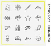 military line icon set military ... | Shutterstock .eps vector #1009736206