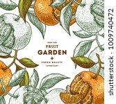 tangerine colored frame.... | Shutterstock .eps vector #1009740472