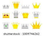 collection of crown awards for... | Shutterstock .eps vector #1009746262