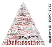 vector conceptual depression or ...   Shutterstock .eps vector #1009749052