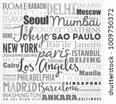 the largest cities in the world ... | Shutterstock .eps vector #1009750372
