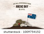 anzac day poppies memorial... | Shutterstock .eps vector #1009754152