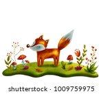 little red fox in the magic... | Shutterstock . vector #1009759975