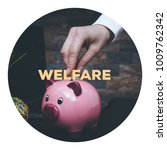 Small photo of PIGGY BANK AND WELFARE CONCEPT