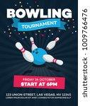 vector bowling tournament... | Shutterstock .eps vector #1009766476