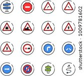 line vector icon set   road... | Shutterstock .eps vector #1009781602
