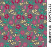 floral embroidery seamless... | Shutterstock .eps vector #1009782262
