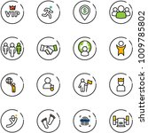 line vector icon set   vip... | Shutterstock .eps vector #1009785802