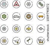 line vector icon set   heart... | Shutterstock .eps vector #1009790872