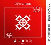 geometric oriental pattern.... | Shutterstock .eps vector #1009809772