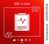 electrocardiogram symbol icon   Shutterstock .eps vector #1009810936