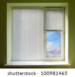 Plastic Window Blinds In The...