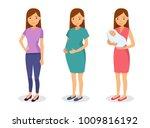 maternity concept illustration  ... | Shutterstock .eps vector #1009816192