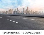 urban road square and skyline... | Shutterstock . vector #1009822486