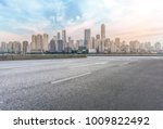 urban road square and skyline... | Shutterstock . vector #1009822492