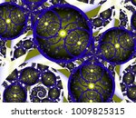 abstract fractal background... | Shutterstock . vector #1009825315
