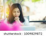 woman hands praying to god with ... | Shutterstock . vector #1009829872
