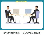 set of young male businessman.... | Shutterstock .eps vector #1009835035