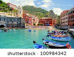 Colorful Harbor At Vernazza ...