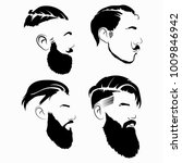 set of hairstyles for men in... | Shutterstock .eps vector #1009846942