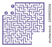 illustration with labyrinth... | Shutterstock .eps vector #1009850206