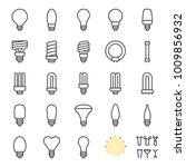 light bulb set  creation kit... | Shutterstock .eps vector #1009856932