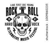 rock n roll festival print or... | Shutterstock .eps vector #1009860235