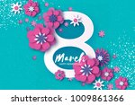 violet happy women s day.... | Shutterstock .eps vector #1009861366