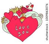 vector hand drawn doodle... | Shutterstock .eps vector #1009863076