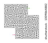 abstract maze labyrinth with...   Shutterstock .eps vector #1009864882