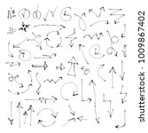 set of hand drawn arrows.... | Shutterstock .eps vector #1009867402